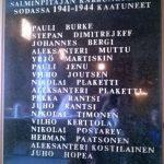 В церкви мемориальная табличка жителей Каркку, погибших в 1941-44 годы.