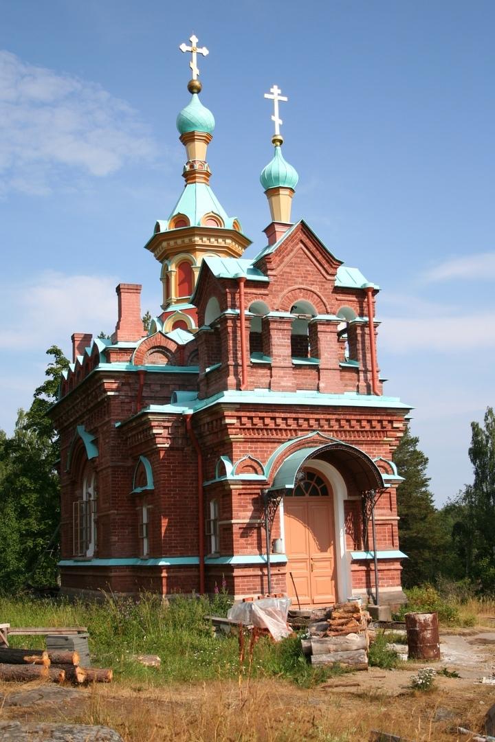 Церковь Св. Сергия и Германа Валаамских на о. Путсаари. Фото Белоус И.