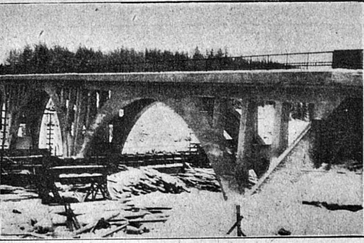 Мост перед приёмкой.