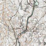 Финская топографическая карта 20-х годов, видны ж/д ветки, включая одноколейку по берегу Янисйоки.