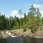 Водопад Ахвенкоски (Окуневый порог)