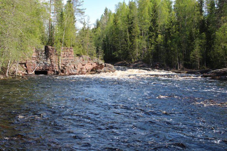 Поляны на реке Уксунйоки