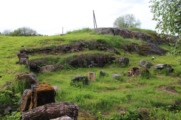Остатки мельницы на реке Бегуновка