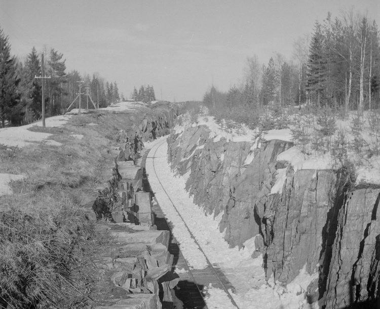 Железнодорожная выемка Импилахти, 1944г