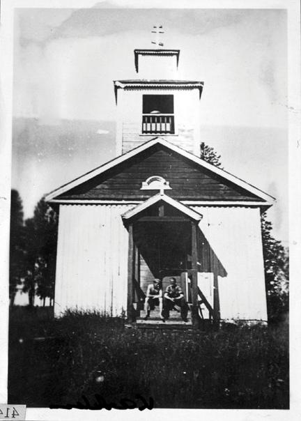 Часовня Иоанна Предтечи в салминской деревне Каркку. Построена в 1915 г.