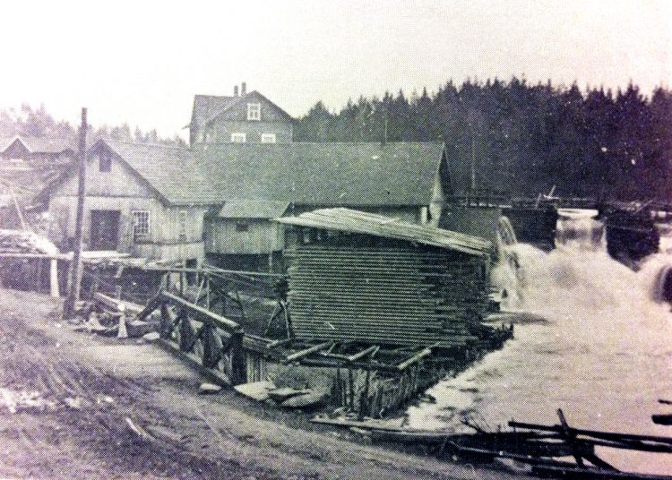 1920г. Мельница и лесопилка в деревне Койриноя