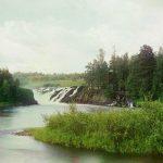 С. М. Прокудин-Горский. Водопад Кивач 1916 год.