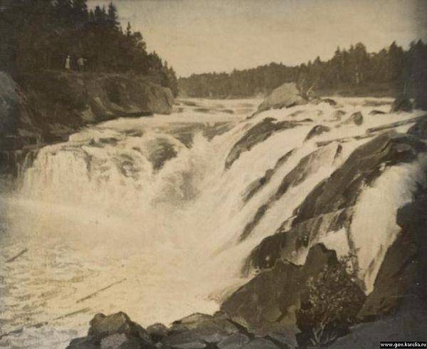 Водопад Кивач до открытия системы Кондопожский ГЭС